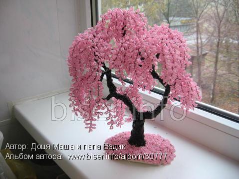 Деревья из бисера своими руками пошагово